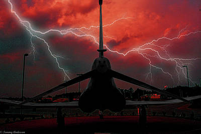 Mcdonnell Douglas F-4 Phantom Ii Photograph - Phantom In The Storm by Tommy Anderson