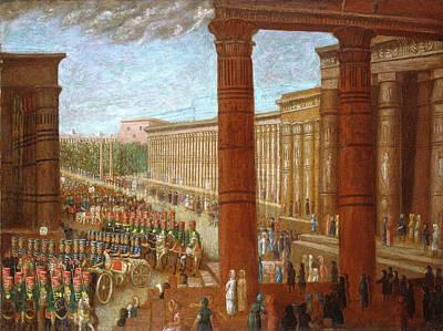 Painting - Pharaoh's Army Marching by Erastus Salisbury Field
