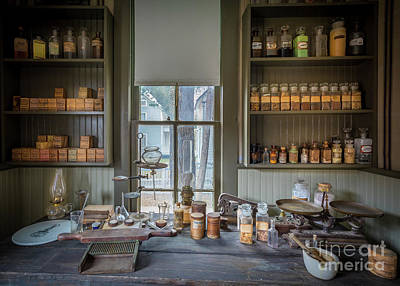 Physician Photograph - Pharmacist Desk by Inge Johnsson