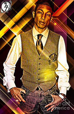 Rapper Digital Art - Pharrell by The DigArtisT