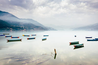 Phewa Lake In Pokhara, Nepal Art Print