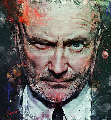 Digital Art - Phil Collins Forever by Yury Malkov