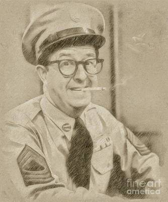 Fantasy Drawings - Phil Silvers, Actor, Comedian by Frank Falcon