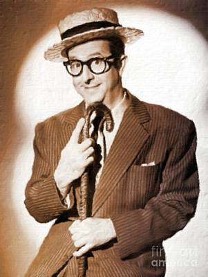 Phil Painting - Phil Silvers, Actor, Comedian by Mary Bassett