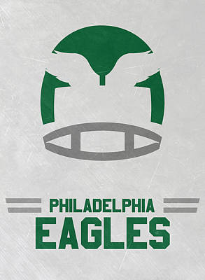 Mixed Media - Philadelphia Eagles Vintage Art by Joe Hamilton