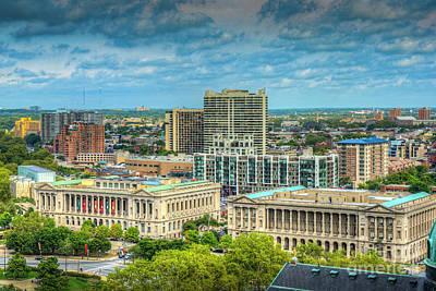 Photograph - Philadelphia Free Library Municpal Court by David Zanzinger