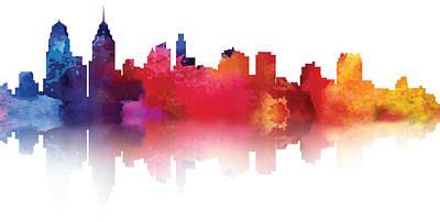Painting - philadelphia PA Skyline II by Loretta Luglio