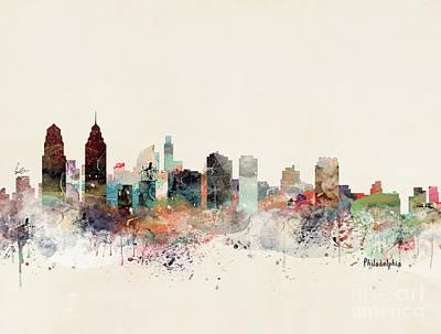 Painting - Philadelphia Pennsylvania Skyline by Bri B