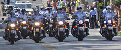 Philadelphia - Police Motorcycle Unit Print by Bill Cannon
