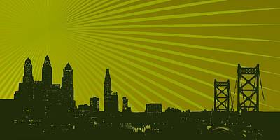 Light Digital Art - Philadelphia Skyline by Alberto RuiZ