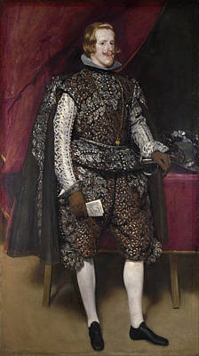 Monarch Painting - Philip Iv Of Spain In Brown And Silver by Diego Velazquez
