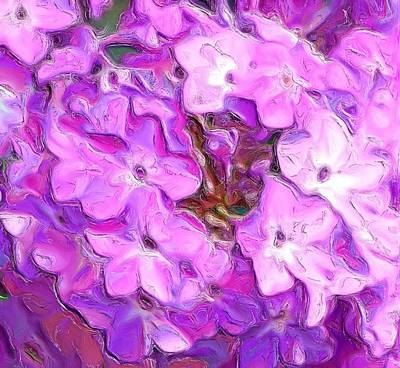Phlox Fantasy Art Print by David Lane
