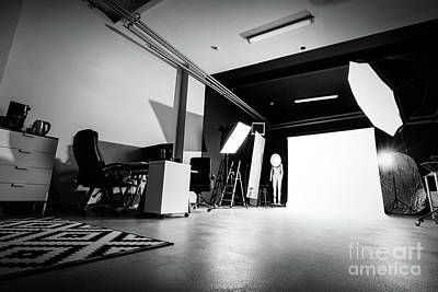 Photograph - Photo Studio Interior With Lighting Equipment. by Michal Bednarek