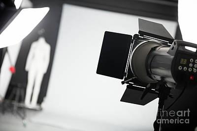 Photo Studio With Lighting Equipment. Art Print