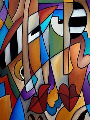Tom Fedro Wall Art - Painting - Piano Men by Tom Fedro - Fidostudio