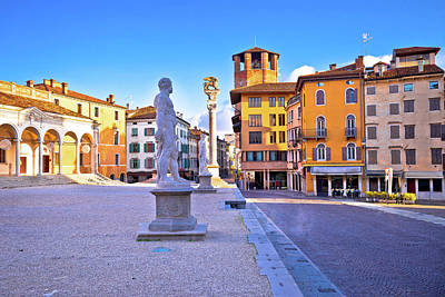 Photograph - Piazza Della Liberta Square In Udine Landmarks View by Brch Photography