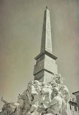 Photograph - Piazza Navona Obelisk by JAMART Photography