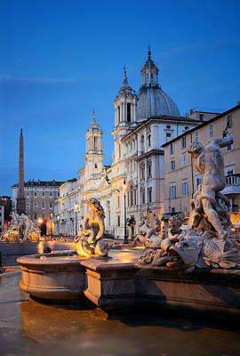 Photograph - Piazza Navona by Songquan Deng