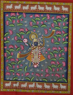 Shri Krishna Painting - Pichwai by Unkown