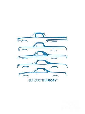 Truck Digital Art - Pickupino Silhouettehistory by Gabor Vida
