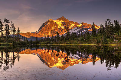 Photograph - Picture Lake Reflection by Pierre Leclerc Photography