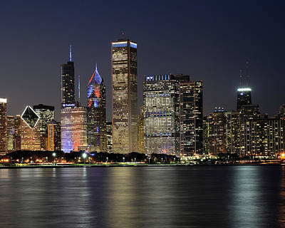 Chicago Skyline Photograph - Chicago Cubs Skyline - Cubs World Series Champs by Horsch Gallery