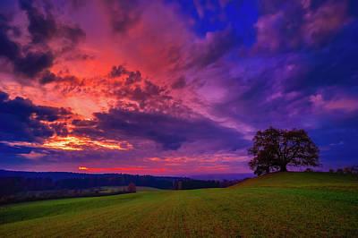 Photograph - Picturesque Rural Sunset by Der Typ Von Nebenan