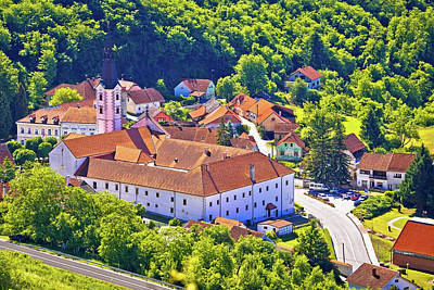 Photograph - Picturesque Town Of Klanjec Aerial View by Brch Photography