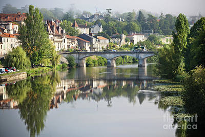 Picturesque View Of Perigord Town In France Art Print