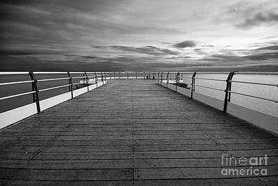 North Sea Wall Art - Photograph - Pier End by Smart Aviation