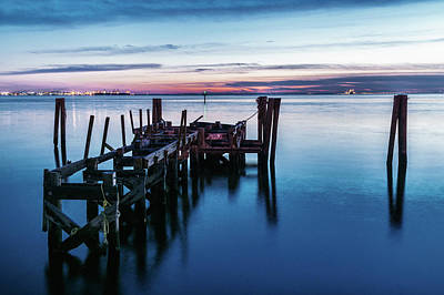 Photograph - Pier Ruins At Chamberlin by Jerry Gammon