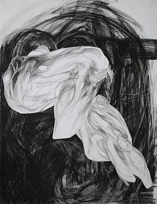 Abstracted Figuration Drawing - Piernas by Mirjana Lucic