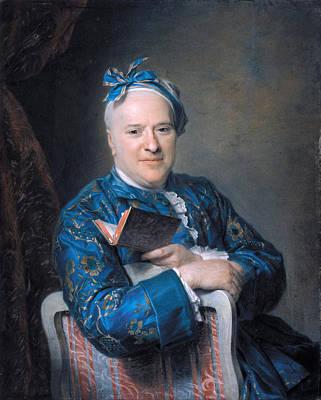 Maurice Quentin De La Tour Painting - Pierre-louis Laideguive by Maurice Quentin de La Tour