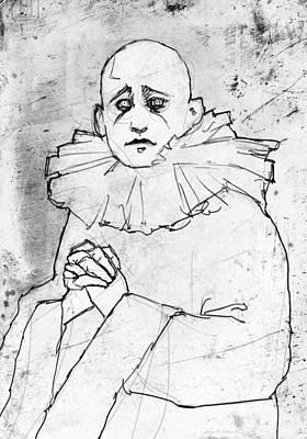 Pierrot Drawing - Pierrot by H James Hoff