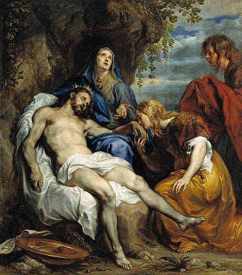 Wept Painting - Pieta by Anthony van Dyck
