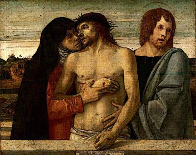 Pieta Digital Art - Pieta  by Giovanni Bellini