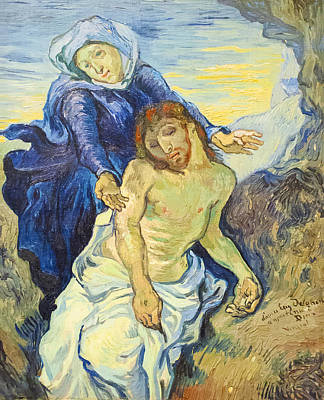Piet Painting - Pieta by Vincent Van Gogh