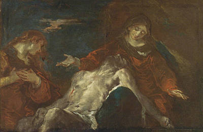 Painting - Pieta With Mary Magdalene by Giuseppe Bazzani