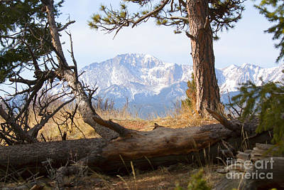Steve Krull Royalty-Free and Rights-Managed Images - Pikes Peak and Trail to Bald Mountain by Steve Krull