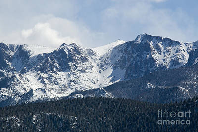 Photograph - Pikes Peak Colorado In Fresh Snow by Steve Krull