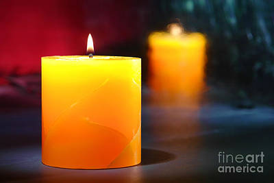 Copyright Photograph - Pillar Candle by Olivier Le Queinec