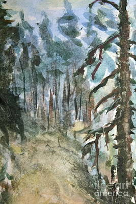 Painting - Pine Forest by Dariusz Gudowicz