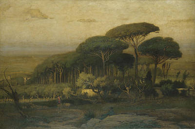 Villa Painting - Pine Grove Of The Barberini Villa by MotionAge Designs