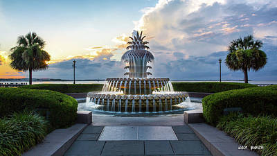 Photograph - Pineapple Fountain At Waterfront Park by Walt Baker