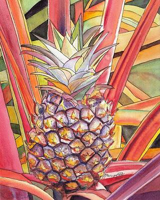 Bromeliad Painting - Pineapple by Marionette Taboniar