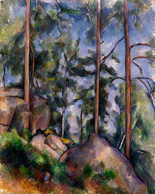 Impressionism Painting - Pines And Rocks by Paul Cezanne