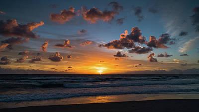 Pink Cloud Sunrise Delray Beach Florida Art Print