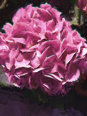 Painting - Pink Cluster Of Flowers by Cathy Jourdan
