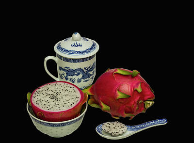 Art Print featuring the photograph Pink Dragon Fruit  by David French