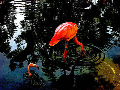Pink Flamingo. Original by Andy Za